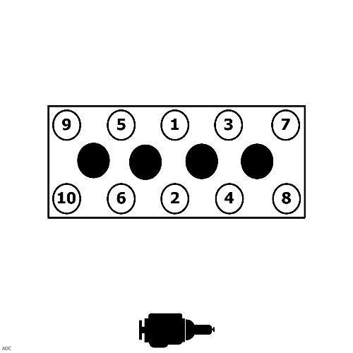 Последовательность затяжки болтов ГБЦ Chevrolet Lacetti
