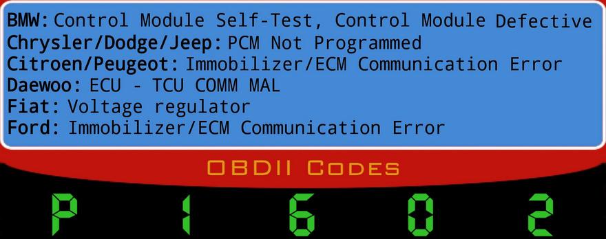 ошибка p1602 - Контроллер системы управления, прерывание напряжение бортсети