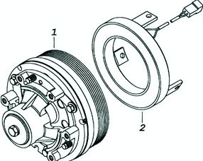 электромагнитная муфта вентилятора автомобиля  BJ1044