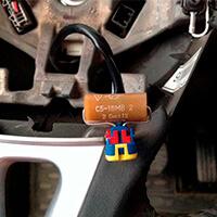 Резистор в руле для имитации пиропатрона