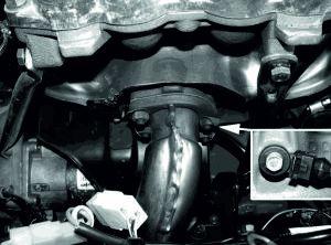Датчик детонации на двигателе 21214