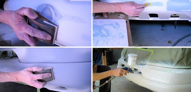 Покраска пластиковых бамперов своими руками видео