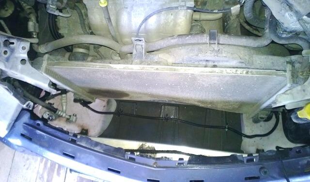 Снятие радиатора охлаждения двигателя Астра H
