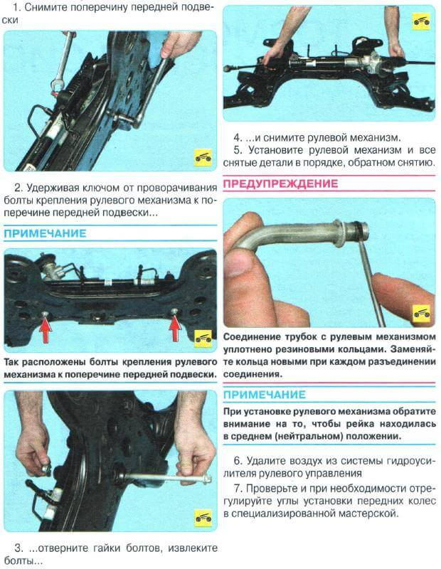 Замена рулевой рейки Авео Т300