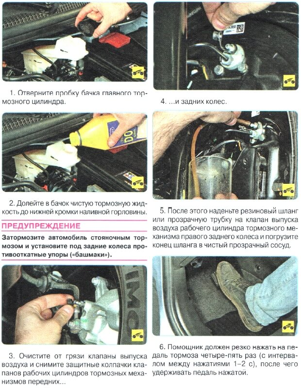Как заменить тормозную жидкость на Авео Т300