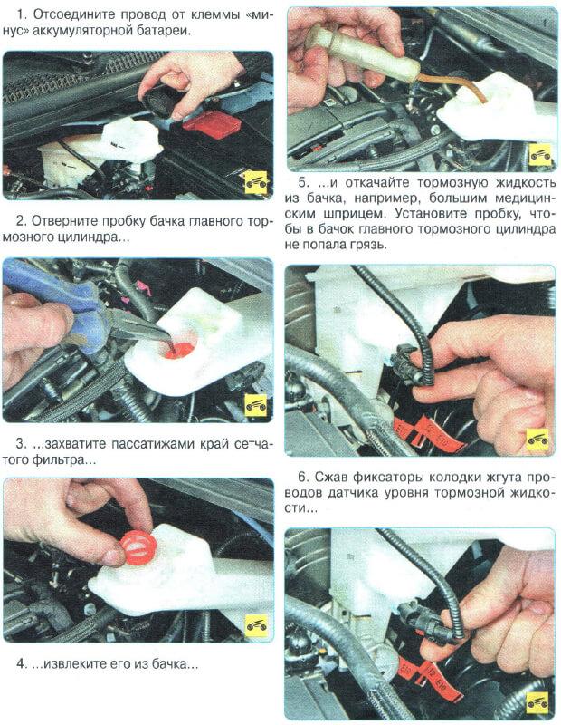 Инструкция как заменить ГТЦ Авео Т300