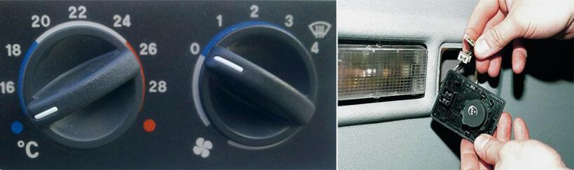 проверка САУО и датчика температуры в салоне