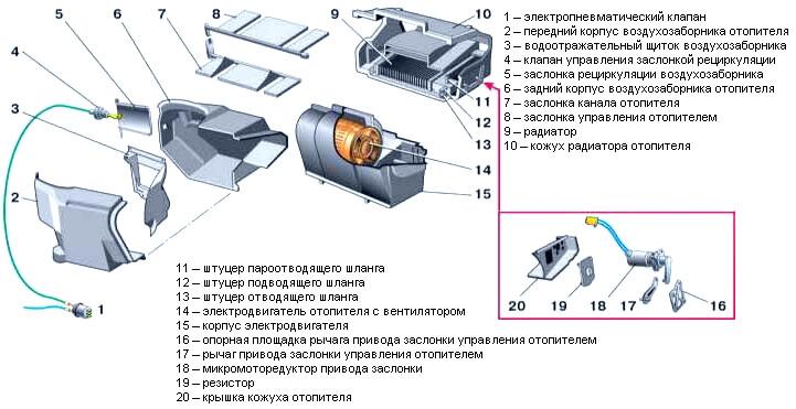 Схема печки 2112 фото