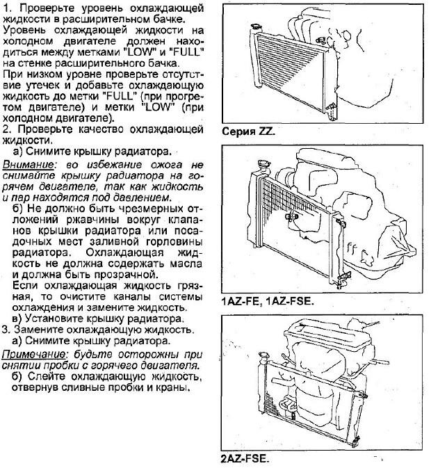 инструкция как заменить антифриз на авенсисе т250