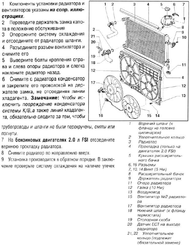 Инструкция по замене радиатора Псаата Б6