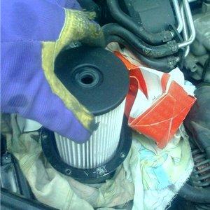 Замена топливного фильтра Passat B6 дизель