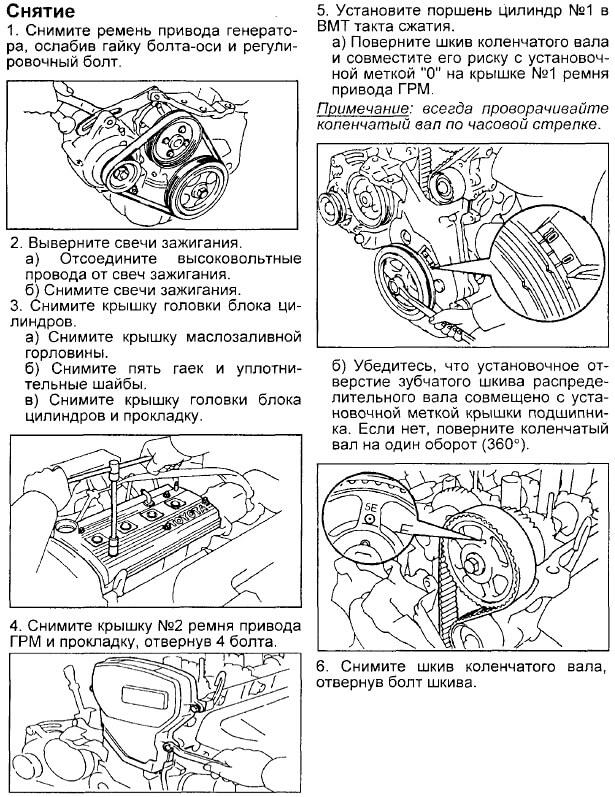 Снятие ремня ГРМ Корона/Калдина