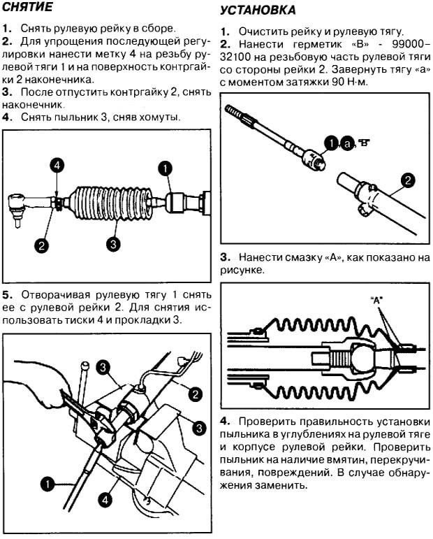 Инструкция по замене рулевых тяг Гранд Витара