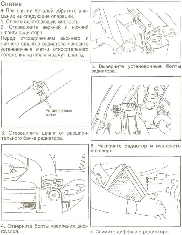 Снятие радиатора Старекс