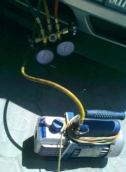 вакуумирование кондиционера автомобиля