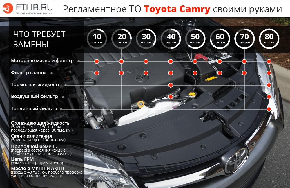 Регламент ТО Тойота Камри