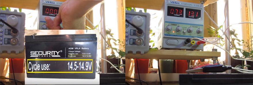 Обслуживание гелевого аккумулятора