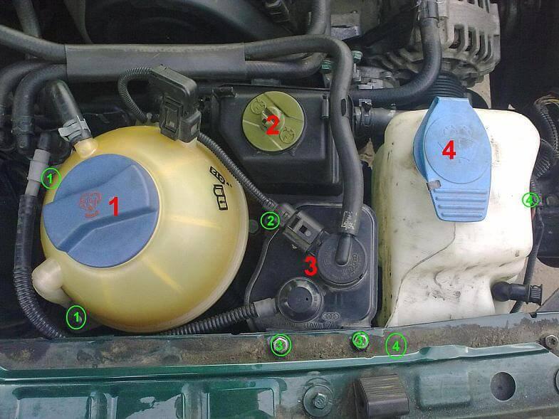 Слив жидкостей с VW Golf 4