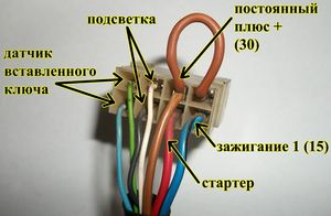 Контактная группа зажигания ВАЗ-2110