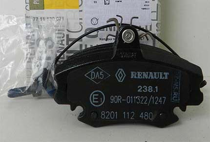 тормозные колодки renault logan