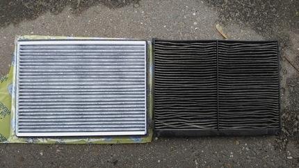 угольный салонный фильтр новый и использованный