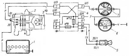 схема зарядки аккумуляторной батареи ВАЗ-2107 с генератором типа 37.3701