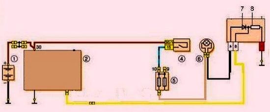 Схема для подключения генератора 21214 на базе проводки 2101