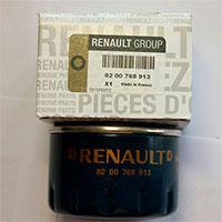 Оригинальный масляный фильтр Renault 8200768913