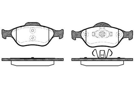 Передние тормозные колодки для Фьюжн