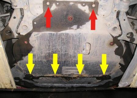Защитная крышка картера двигателя Форд Фокус 2