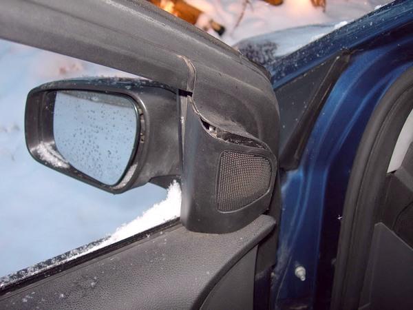 Снятие защитной сетки пищалки на Форд Фокус 2