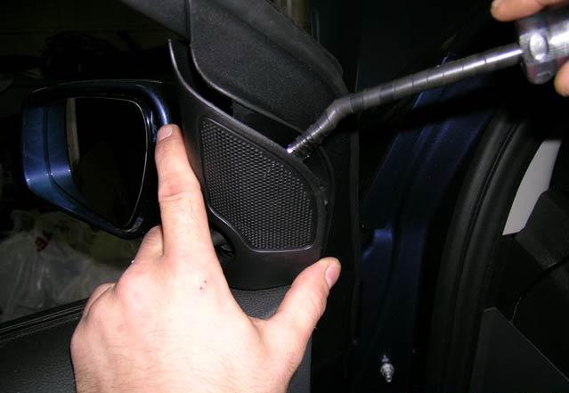 Снятие защитной сетки пищалки на Ford Focus II