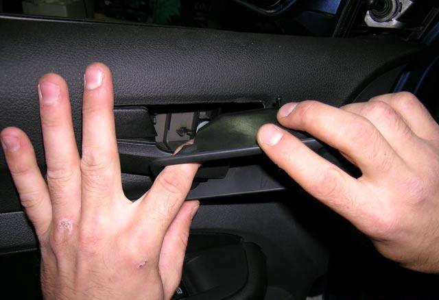 снятие окантовки ручки Ford Focus II