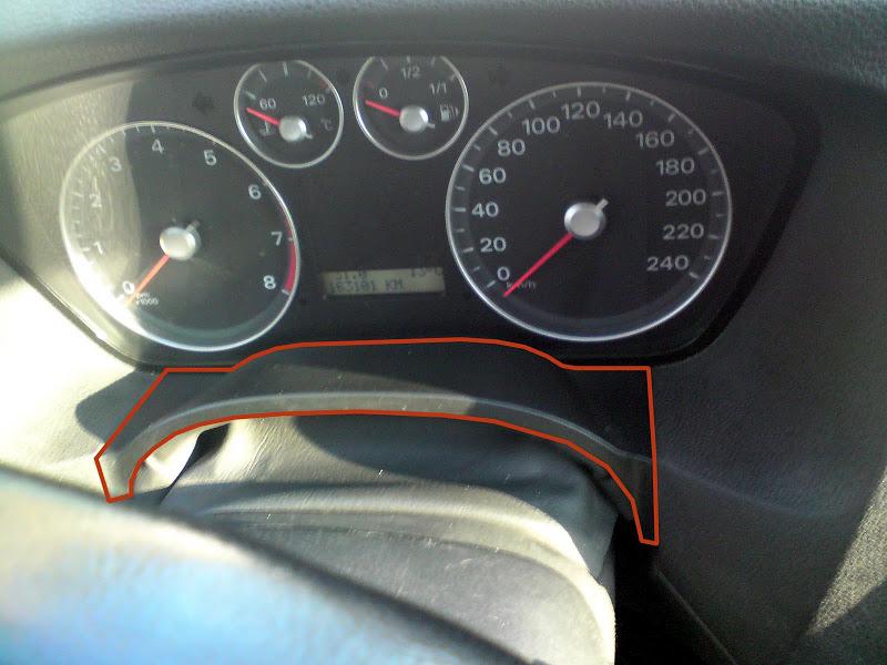 Снятие панели приборов Ford Focus II