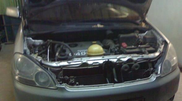 Установка топливного подогревателя на Toyota Avensis