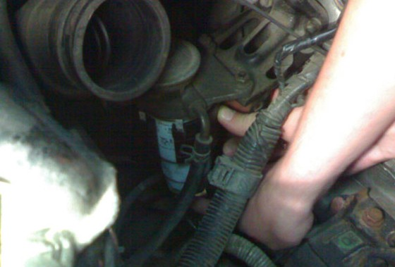 Установка подогрева топливного фильтра на Toyota