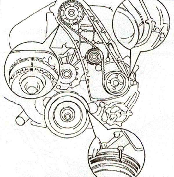 Замена ремня / цепи ГРМ Митсубиси Техцентр Mitsubishi
