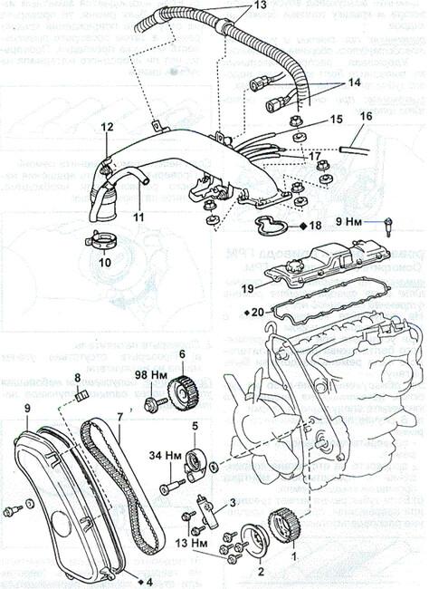 Замена ремня ГРМ на 1KZ D-4D