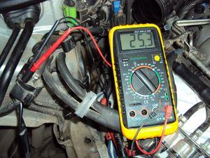 Проверка клапана адсорбера мультиметром