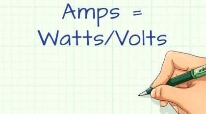 Вычисление сколько Ватт в 1 Ампере