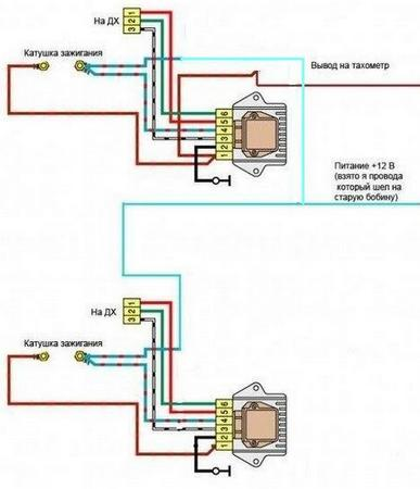 схема двухконтурного зажигания ВАЗ
