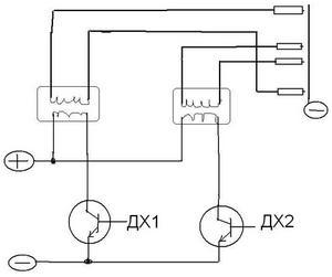 Общая схема двухконтурного зажигания