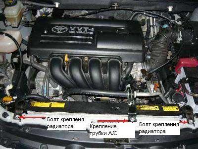 Снятие стартера Toyota Corolla E120