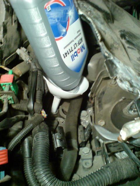 Замена масла в АКПП Пежо 307
