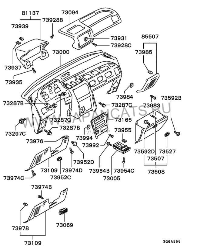 схема электрооборудования митсубиси спейс вагон