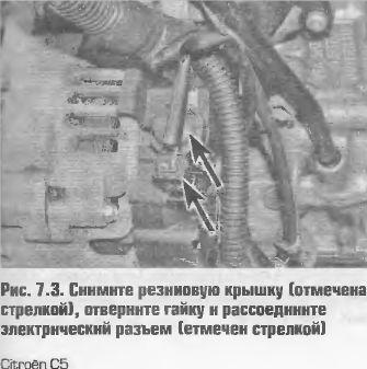 Как снять генератор Citroen C5