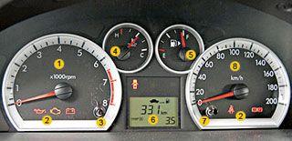 Chevrolet Aveo приборная панель
