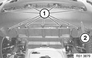снятие переднего бампера БМВ Х5
