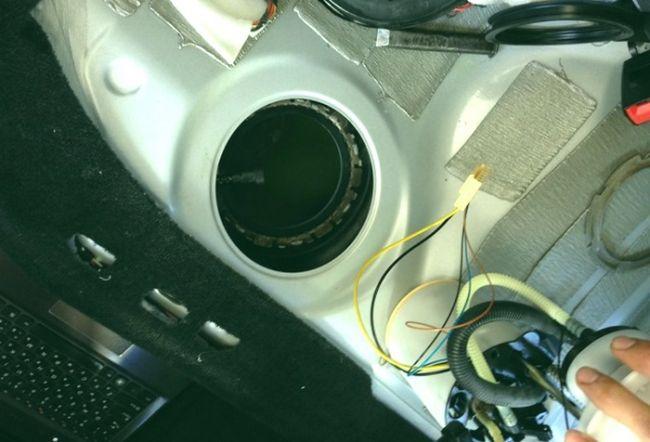 установка топливного насоса в бак