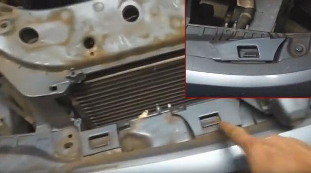 Снятие переднего бампера Ford Focus I